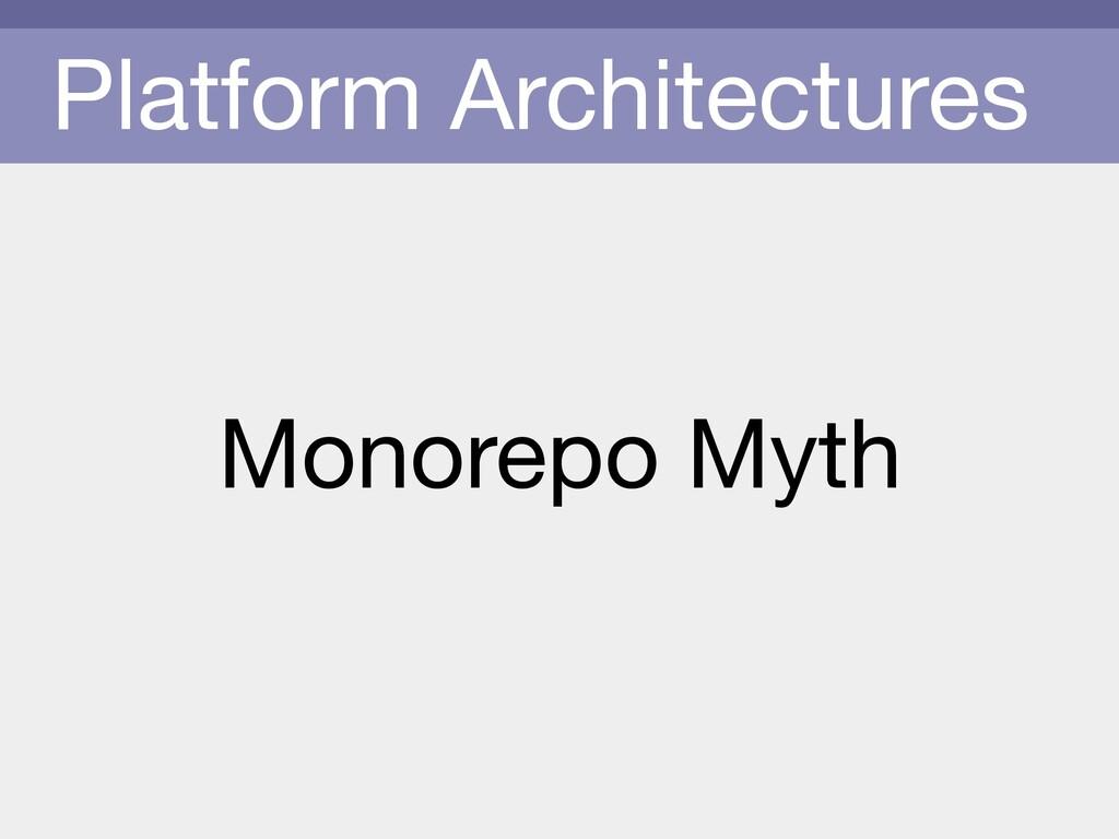 Platform Architectures Monorepo Myth