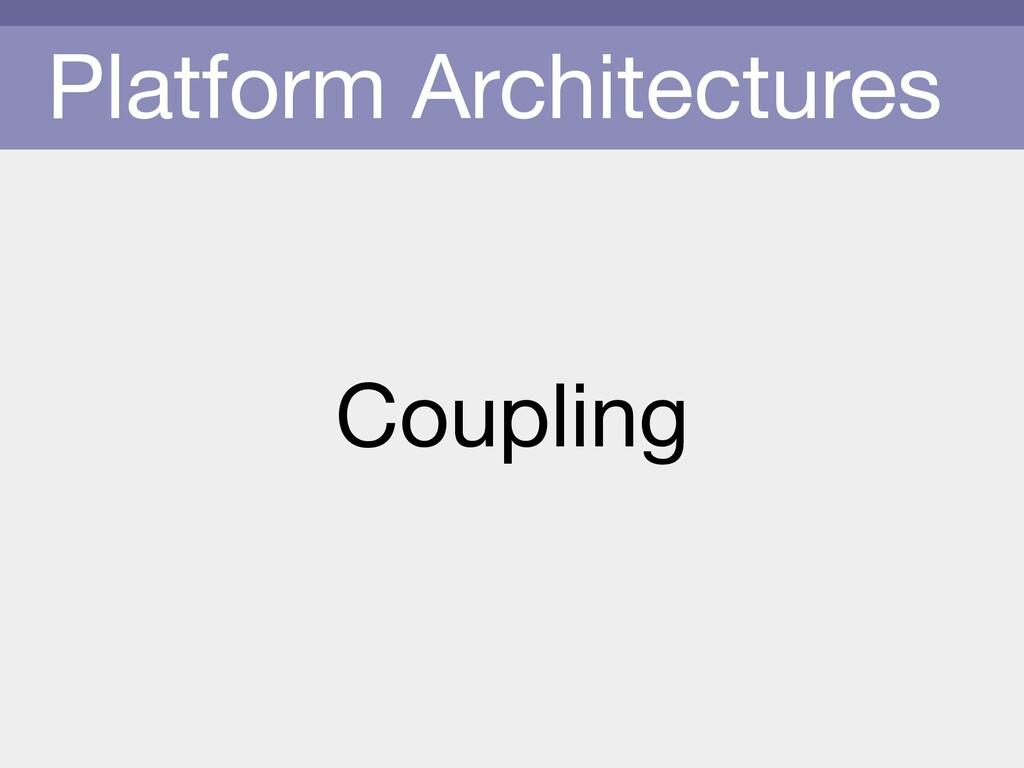 Platform Architectures Coupling