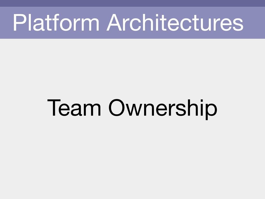 Platform Architectures Team Ownership