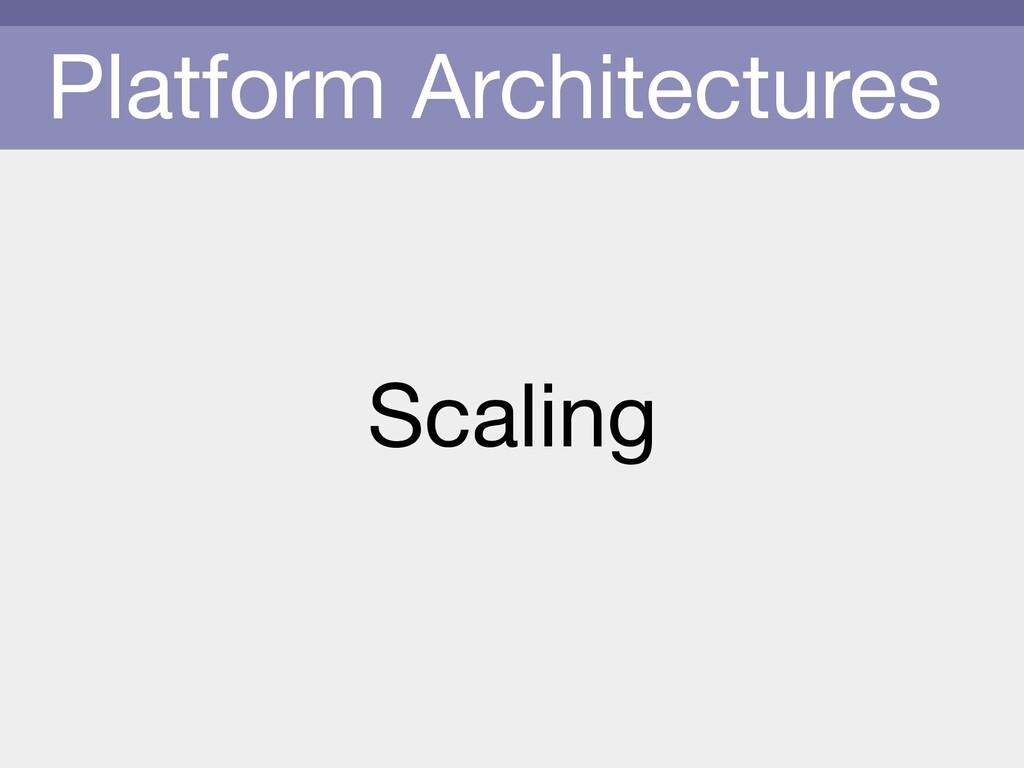 Platform Architectures Scaling