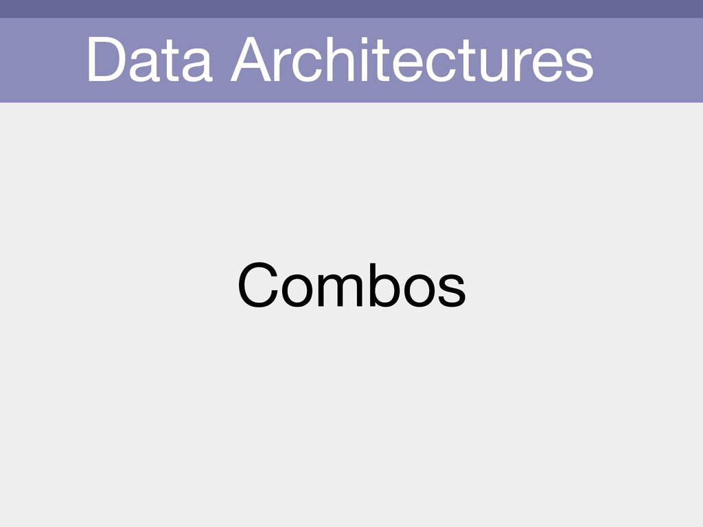 Data Architectures Combos