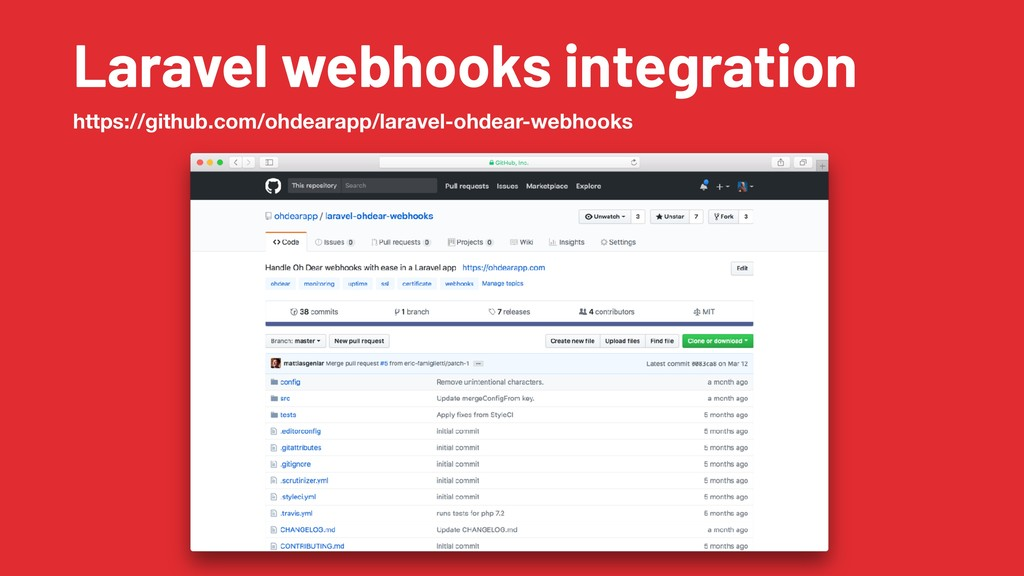 Laravel webhooks integration https://github.com...