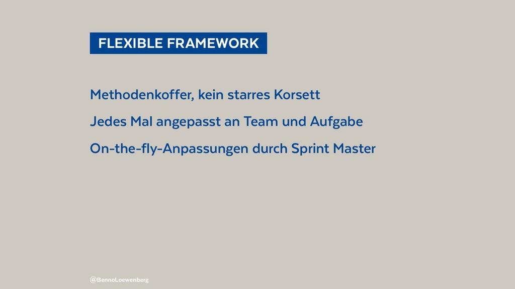 FLEXIBLE FRAMEWORK Methodenkoffer, kein star...