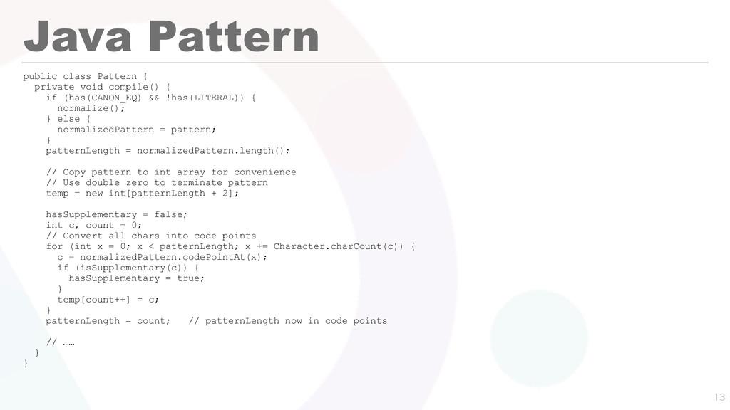 Java Pattern public class Pattern { private voi...