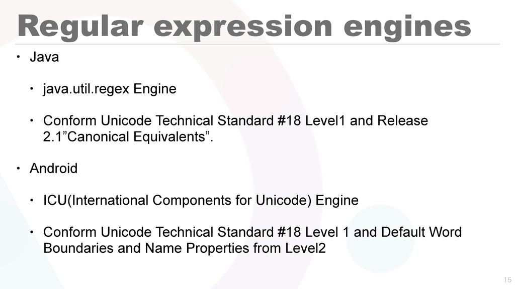 Regular expression engines • Java • java.util.r...