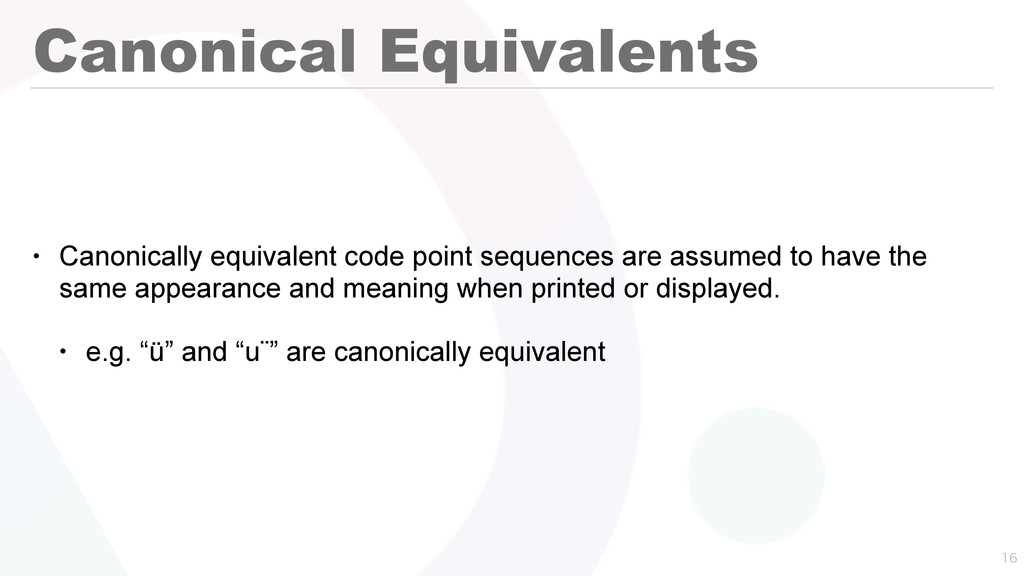 Canonical Equivalents • Canonically equivalent ...