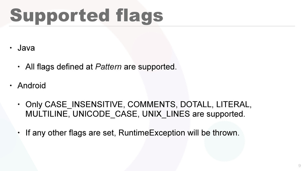 Supported flags • Java • All flags defined at P...
