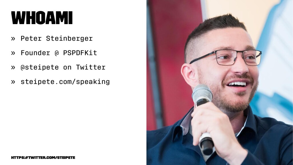 whoami » Peter Steinberger » Founder @ PSPDFKit...