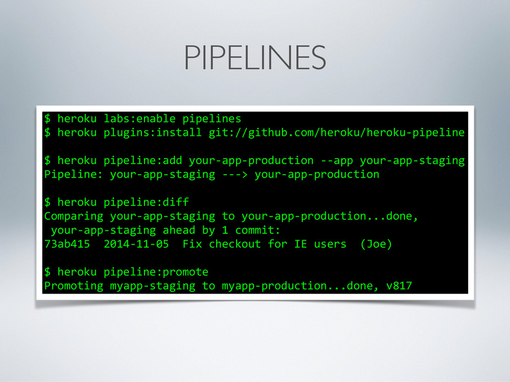 PIPELINES $	