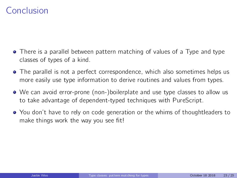 Conclusion There is a parallel between pattern ...