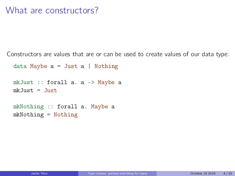 What are constructors? Constructors are values ...