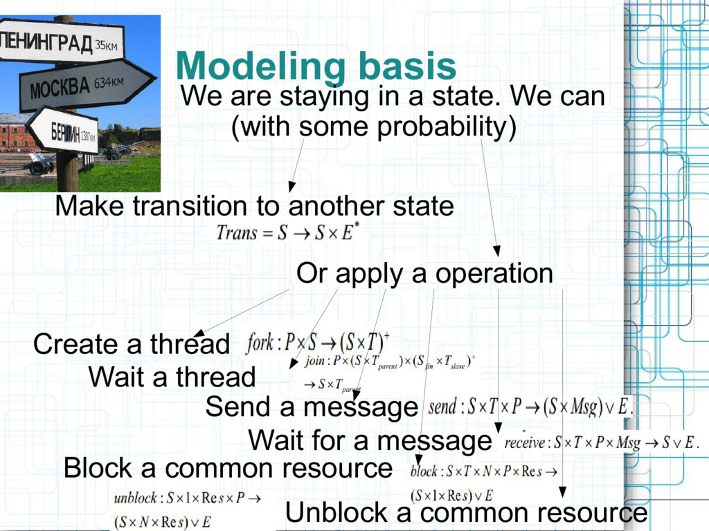 Modeling basis We are staying in a state. We ca...
