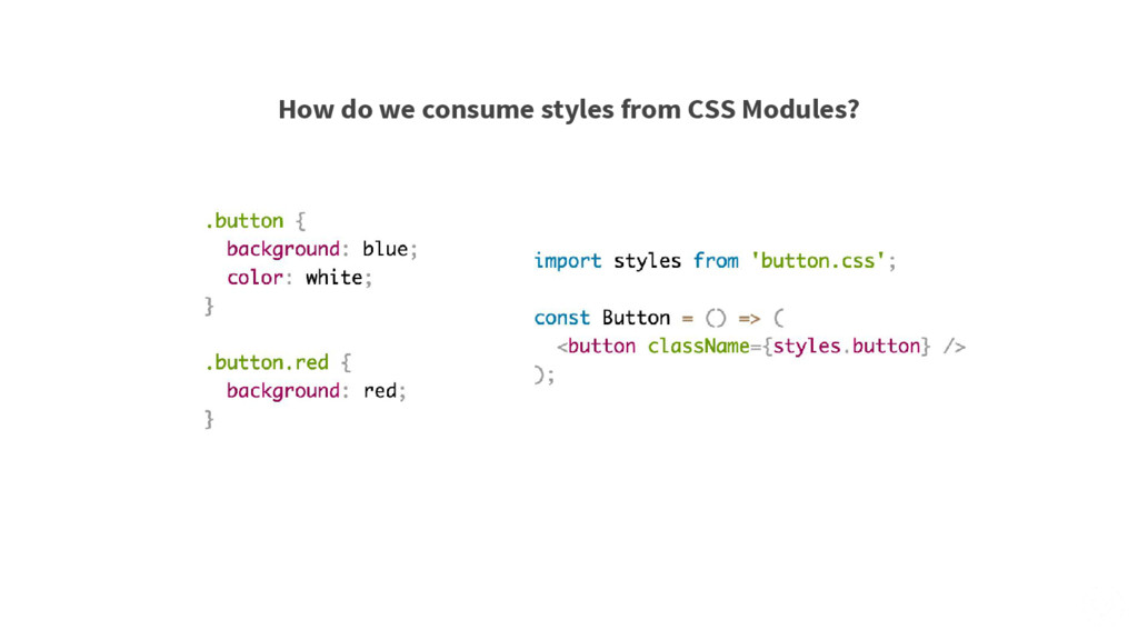 How do we consume styles from CSS Modules?