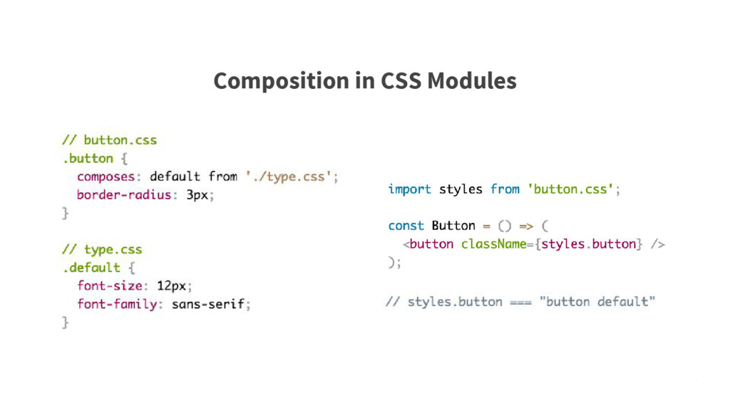 Composition in CSS Modules