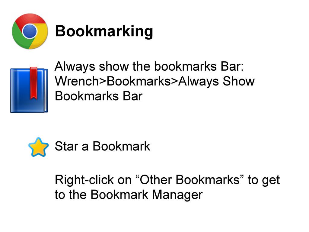 Bookmarking Always show the bookmarks Bar: Wren...