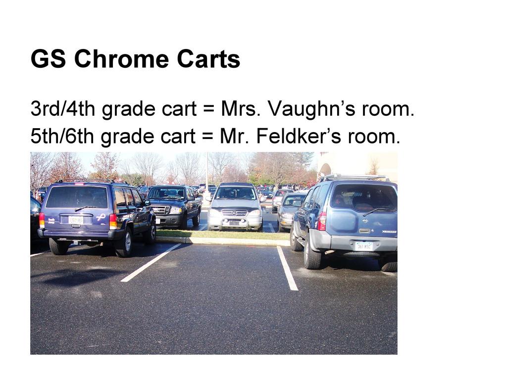 GS Chrome Carts 3rd/4th grade cart = Mrs. Vaugh...