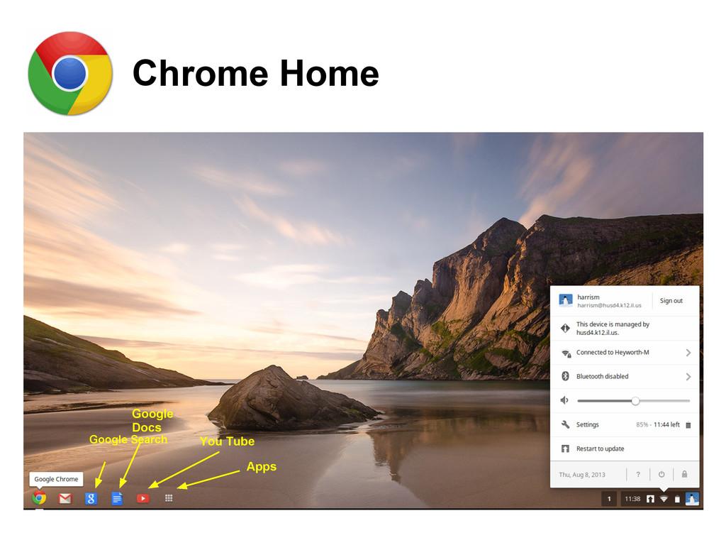 Chrome Home Google Search Google Docs You Tube ...