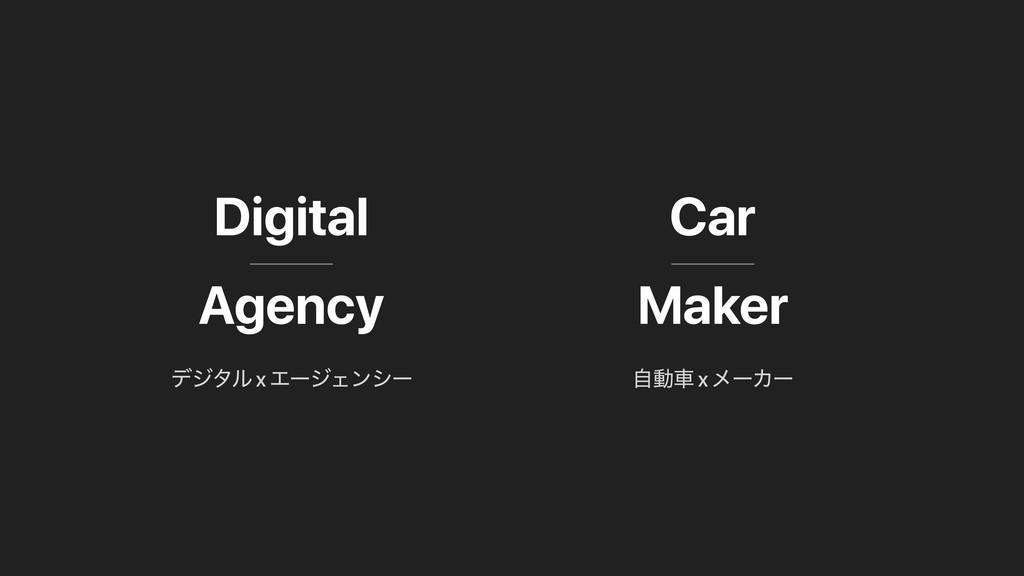 Digital Agency Car Maker ࣗಈं x ϝʔΧʔ σδλϧ x ΤʔδΣ...