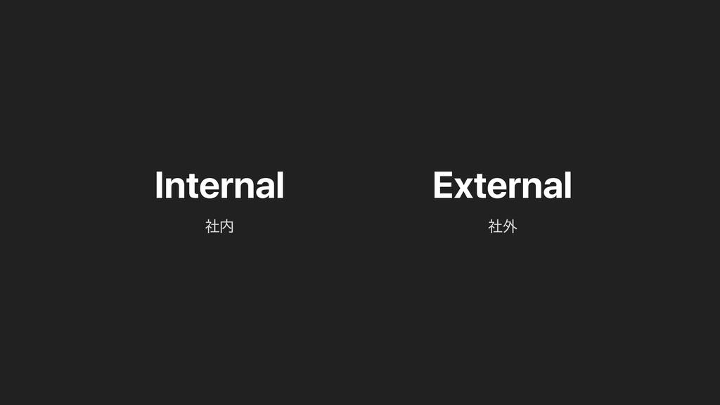 Internal External ࣾ֎ ࣾ