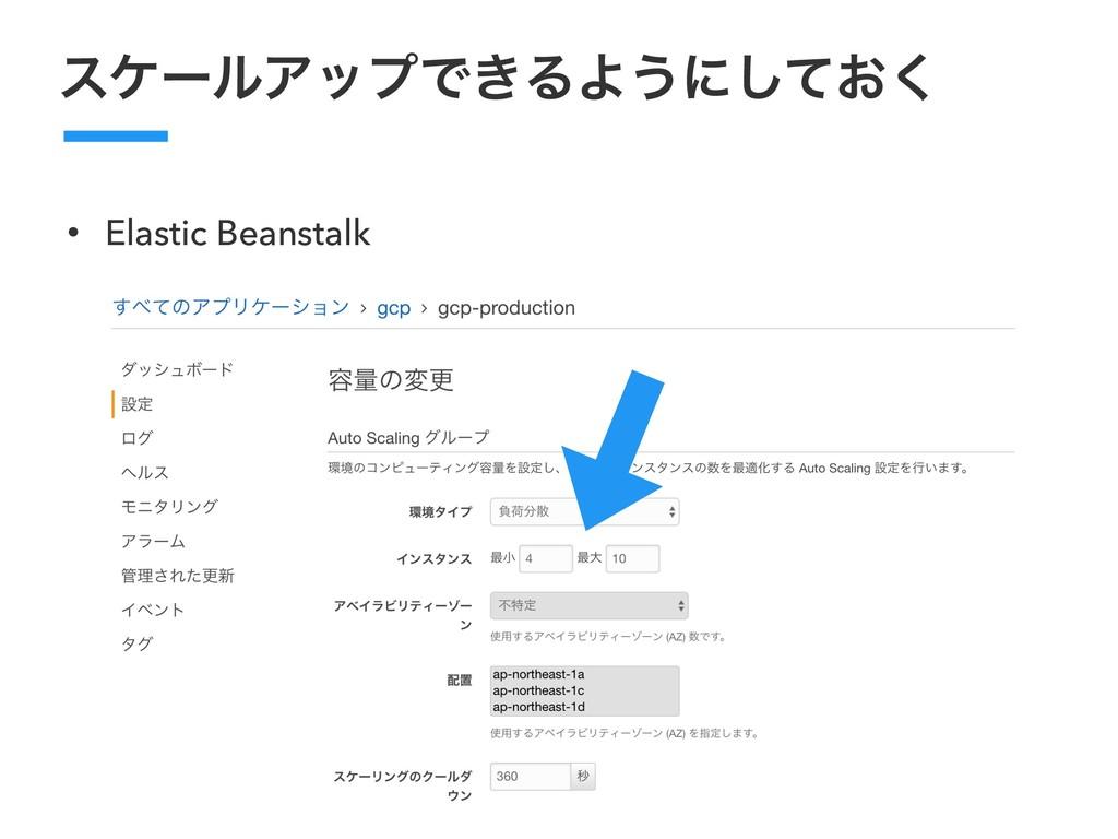 εέʔϧΞοϓͰ͖ΔΑ͏ʹ͓ͯ͘͠ • Elastic Beanstalk