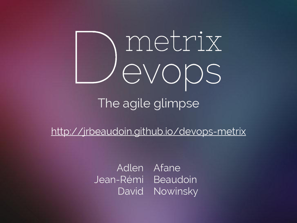 The agile glimpse http://jrbeaudoin.github.io/d...
