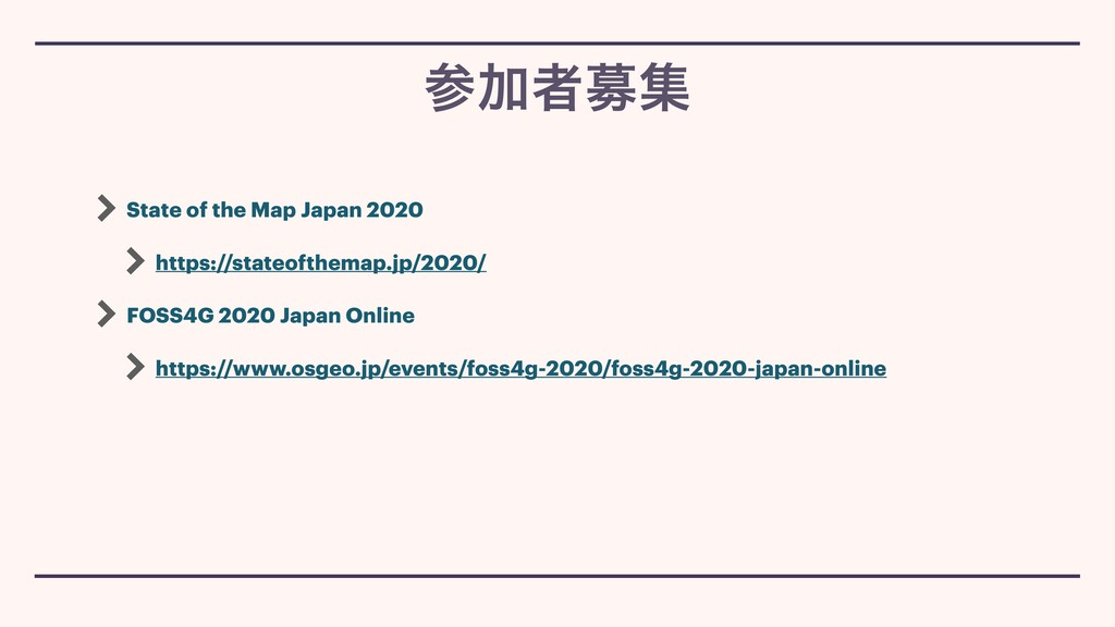 State of the Map Japan 2020 https://stateofthem...