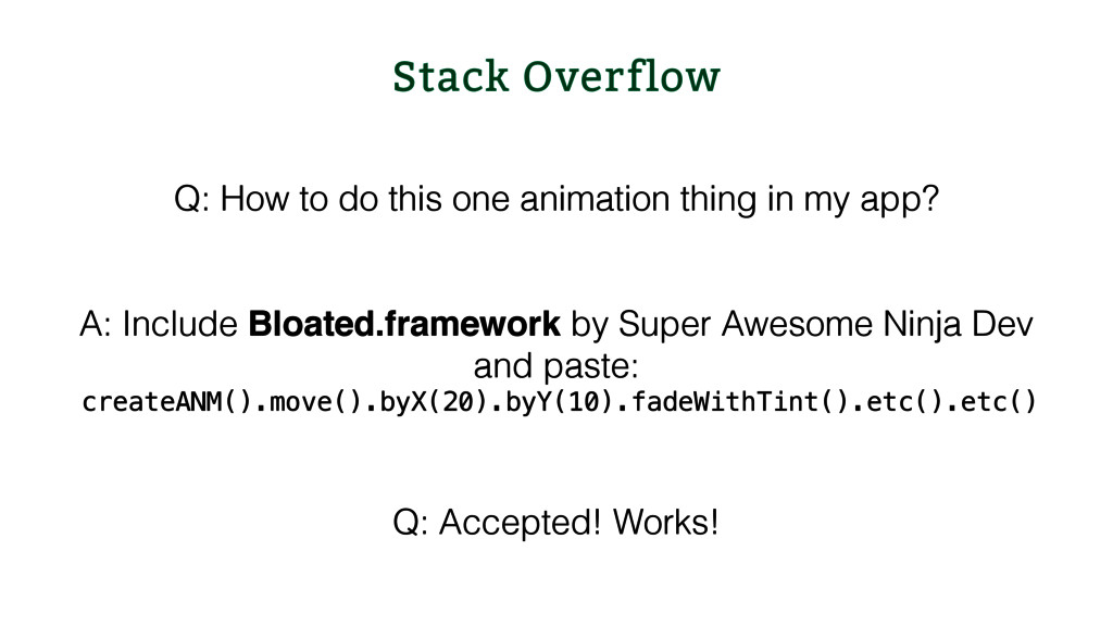 Stack Overflow Q: How to do this one animation ...