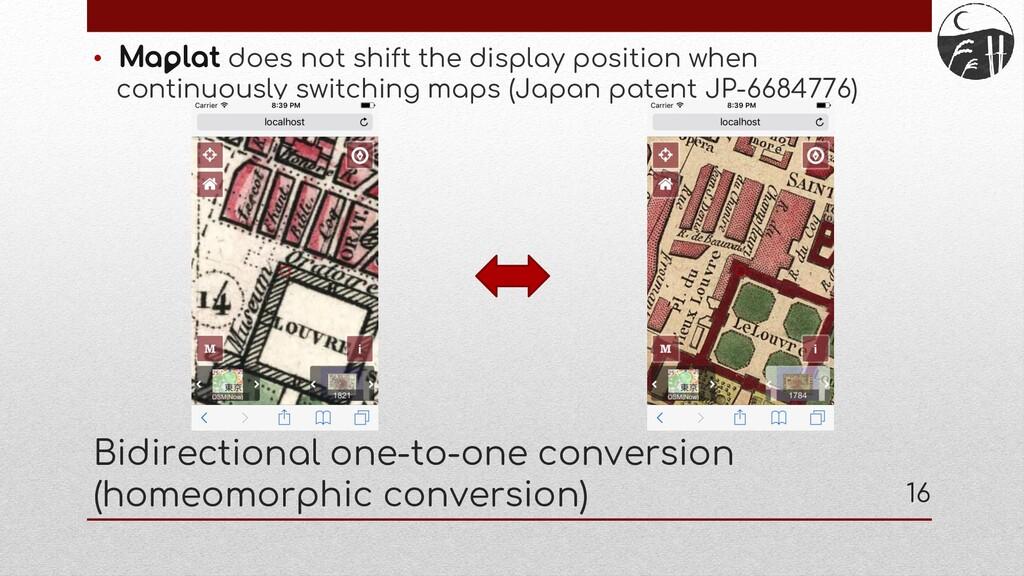 Bidirectional one-to-one conversion (homeomorph...
