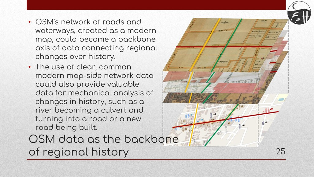 • OSM's network of roads and waterways, created...