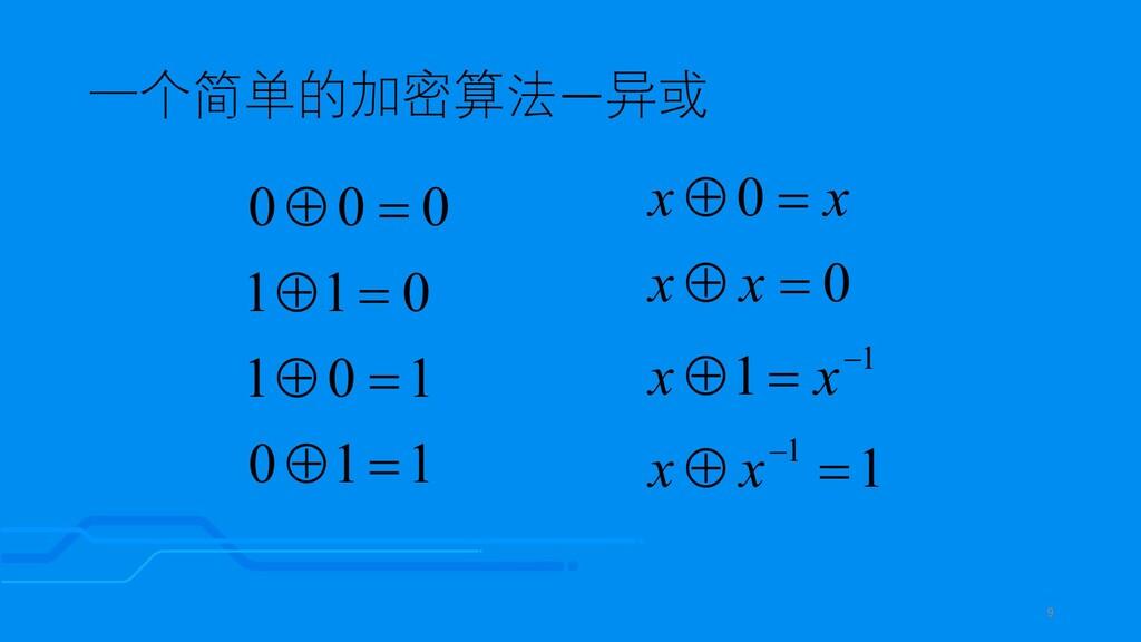 一个简单的加密算法—异或 1 1 0 1 0 1 0 1 1 0 0 0 = Å = Å = ...