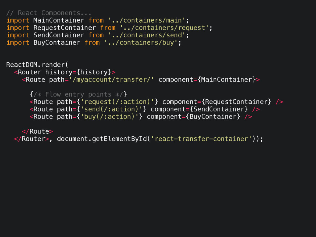 // React Components... import MainContainer fro...