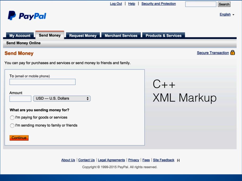 C++ XML Markup