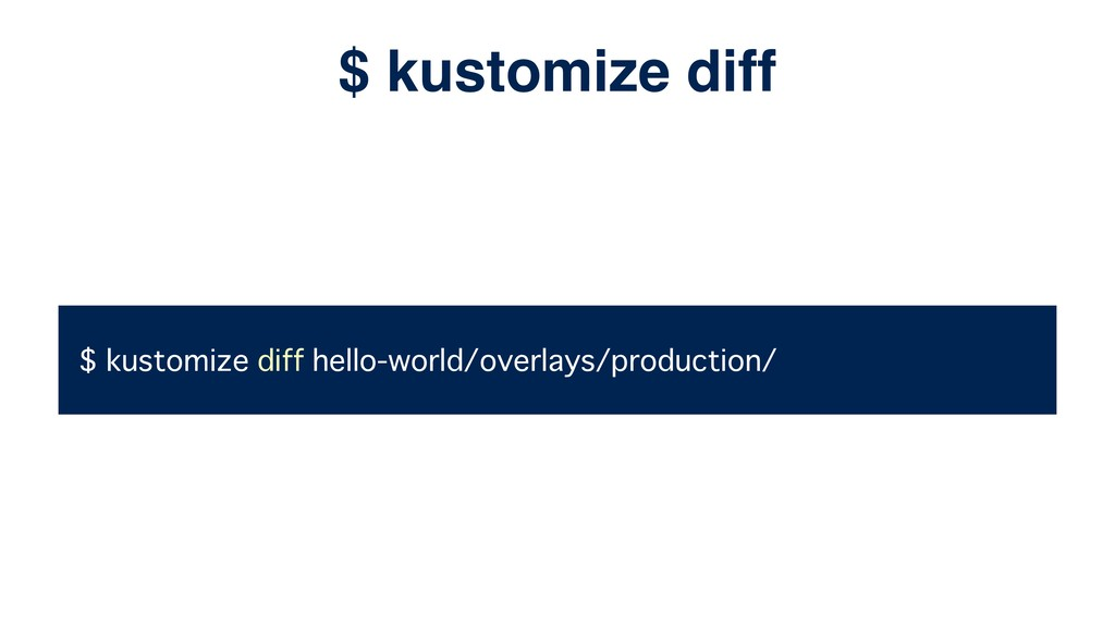$ kustomize diff hello-world/overlays/productio...