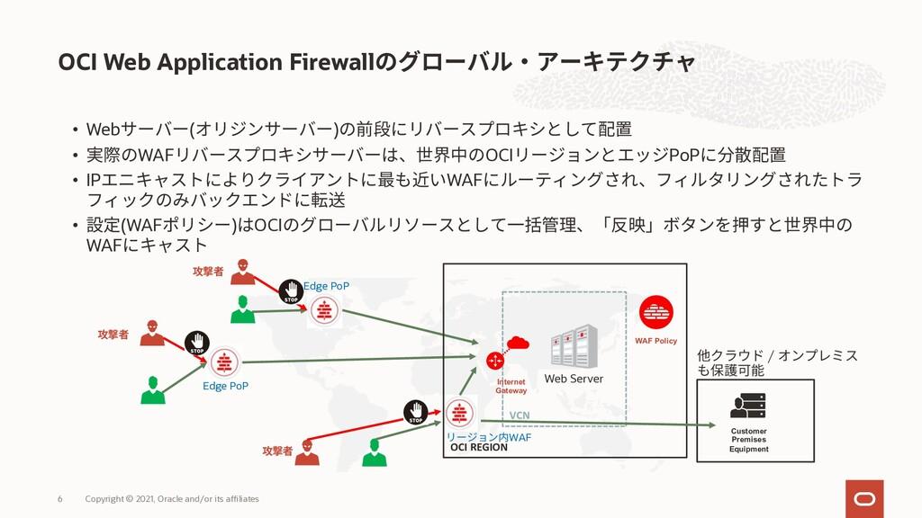 OCI Web Application Firewall Copyright © 2021, ...