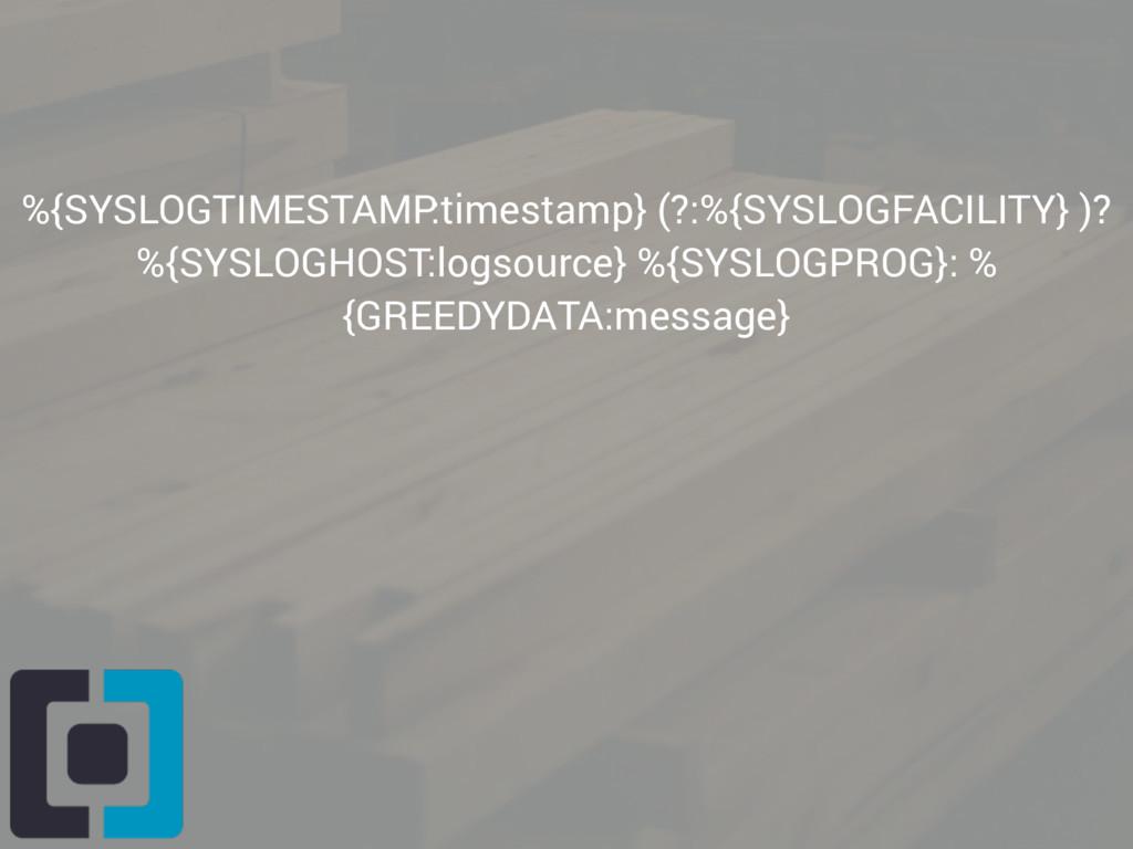 %{SYSLOGTIMESTAMP:timestamp} (?:%{SYSLOGFACILIT...