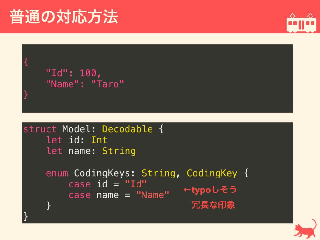 ී௨ͷରԠํ๏  struct Model: Decodable { let id: Int...