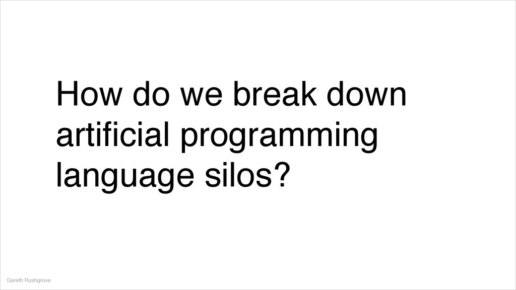 How do we break down artificial programming lang...