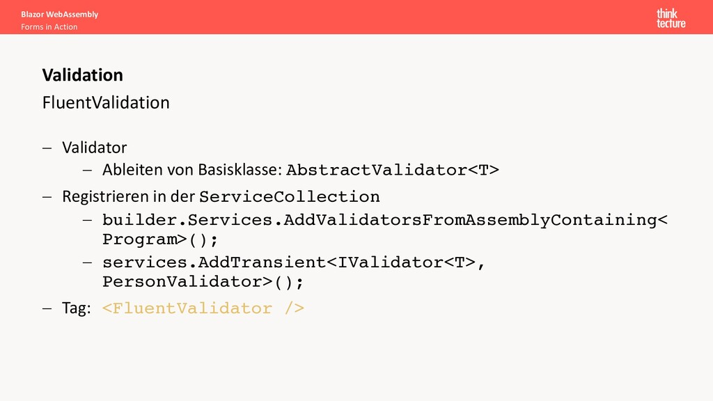 FluentValidation - Validator - Ableiten von Bas...