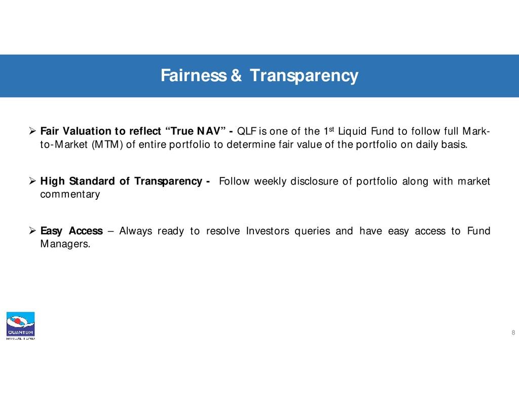 " Fair Valuation to reflect ""True NAV"" - QLF is..."