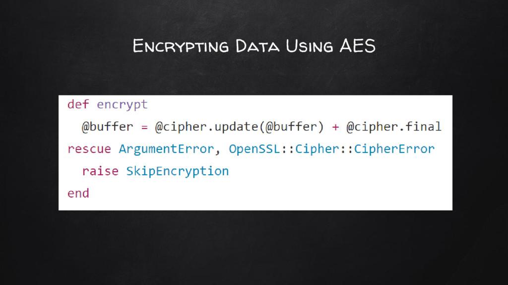 Encrypting Data Using AES