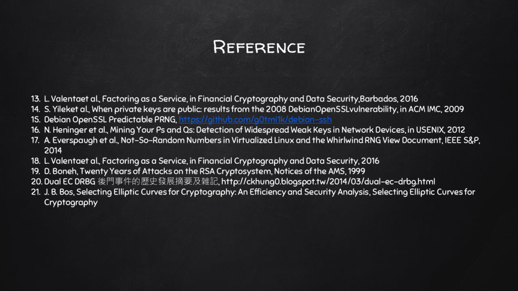 Reference 13. L. Valentaet al., Factoring as a ...