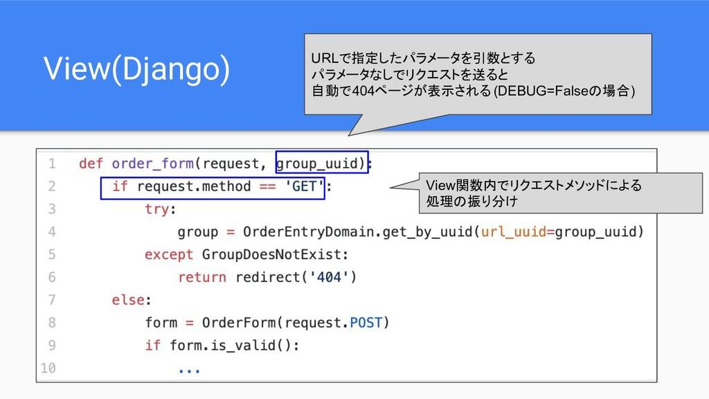 View(Django) URLで指定したパラメータを引数とする パラメータなしでリクエストを...