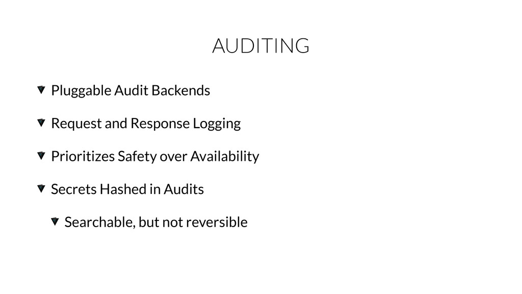 AUDITING Pluggable Audit Backends Request and R...