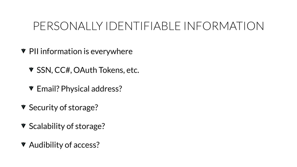 PERSONALLY IDENTIFIABLE INFORMATION PII informa...