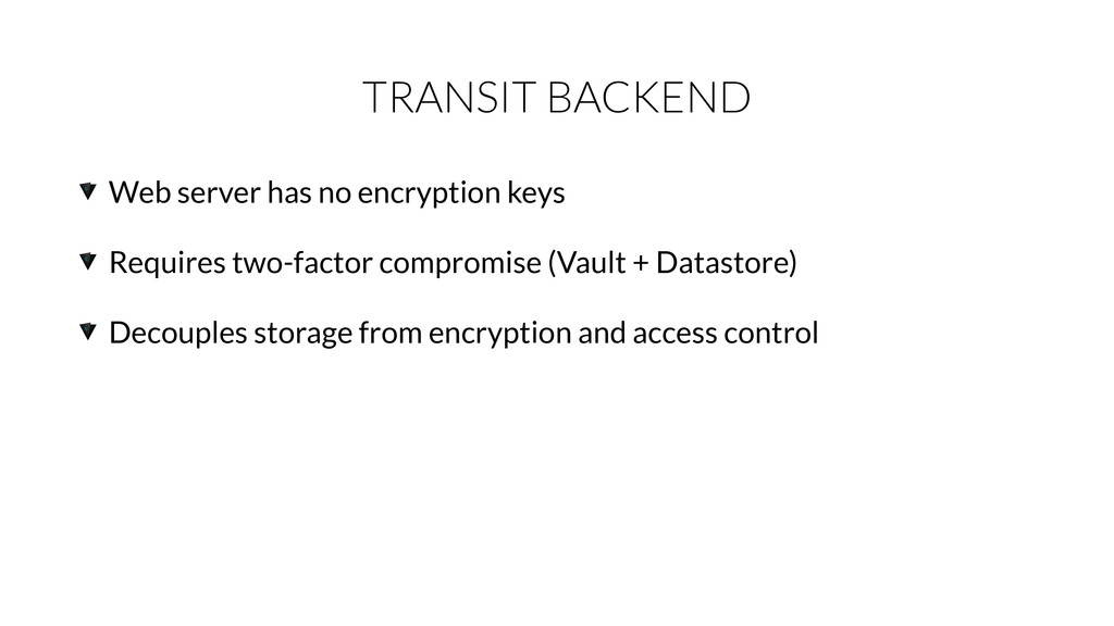 TRANSIT BACKEND Web server has no encryption ke...