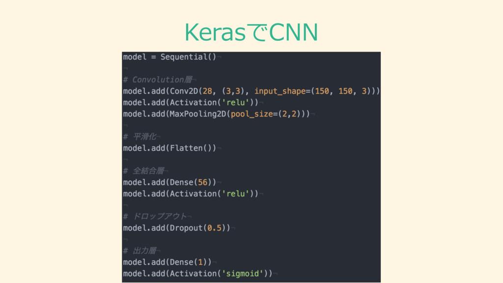 KerasでCNN