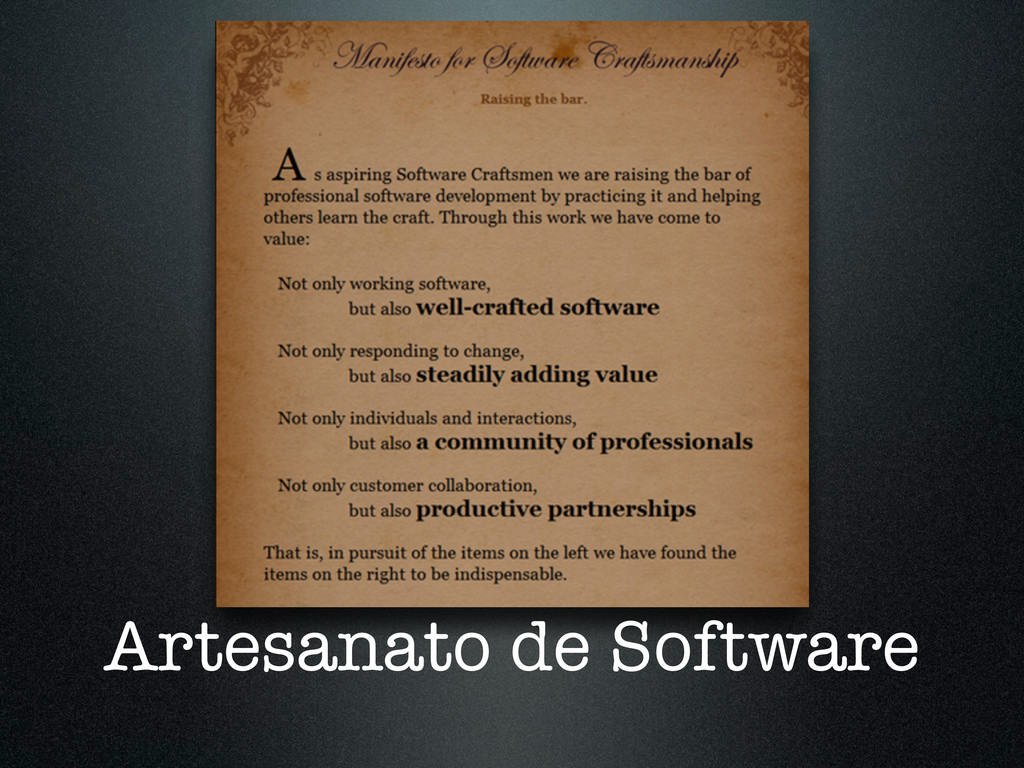 Artesanato de Software