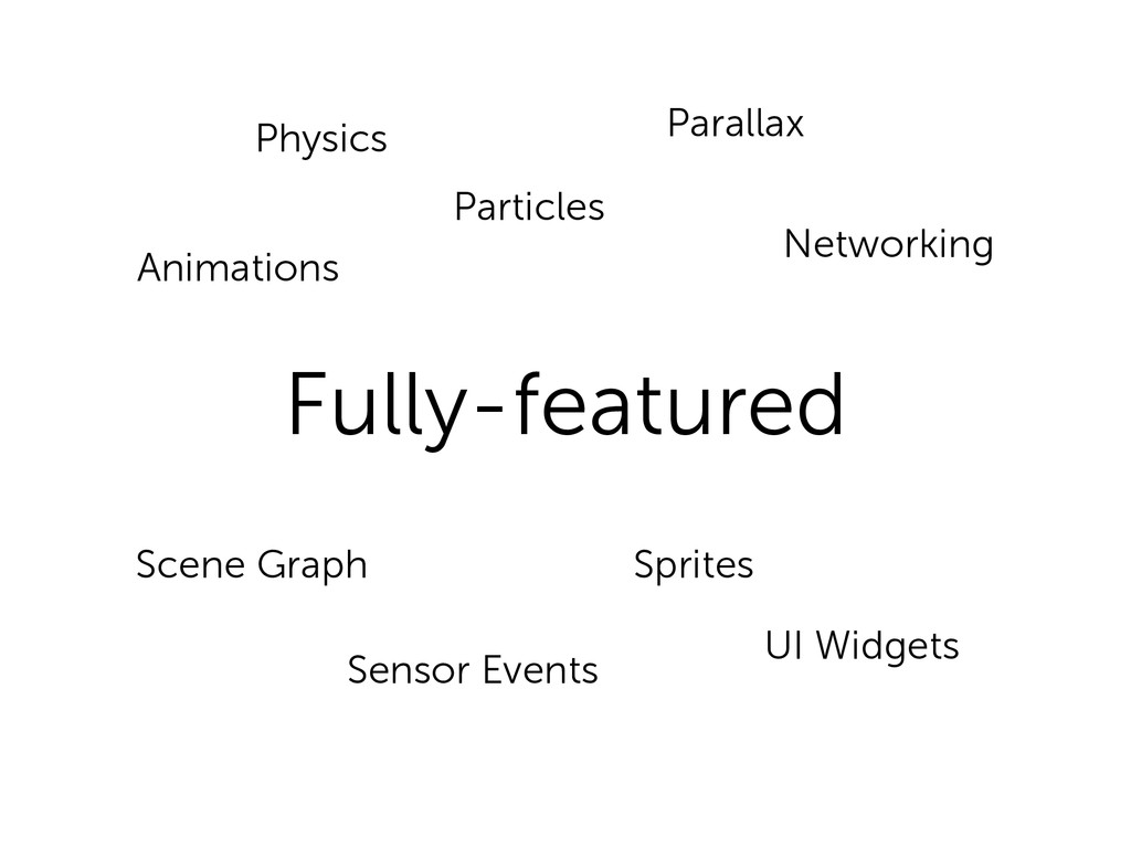 Fully-featured Scene Graph Sensor Events Sprite...