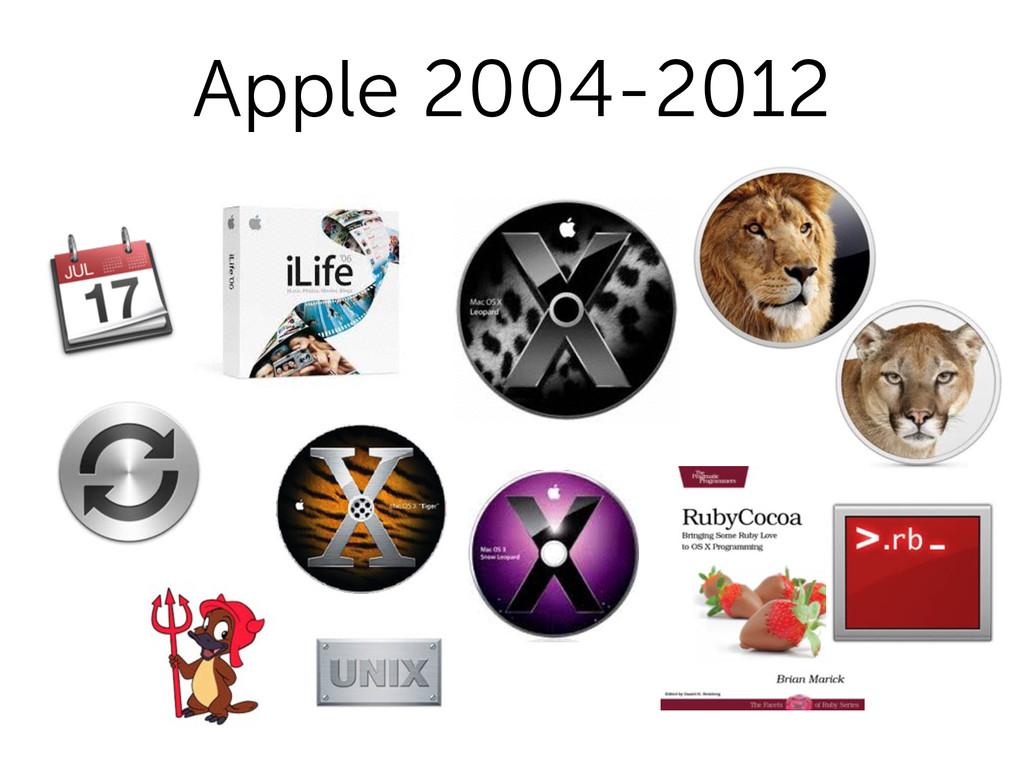 Apple 2004-2012
