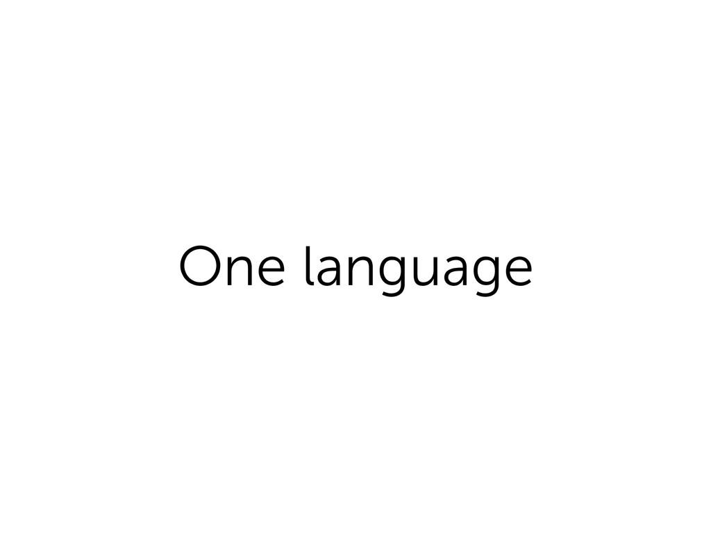 One language